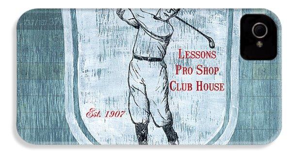 Vintage Golf Blue 1 IPhone 4 Case by Debbie DeWitt