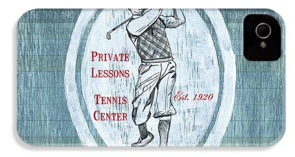 Vintage Golf Blue 2 IPhone 4 Case by Debbie DeWitt