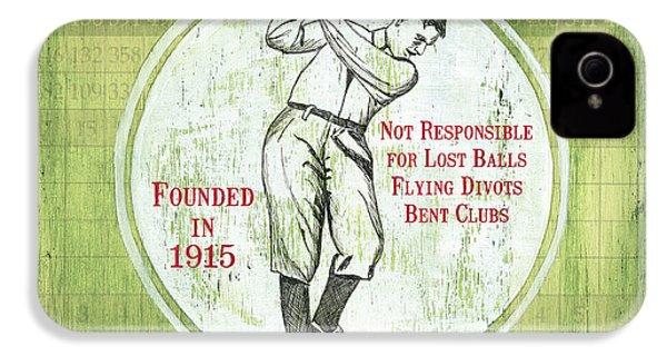 Vintage Golf Green 2 IPhone 4 Case by Debbie DeWitt