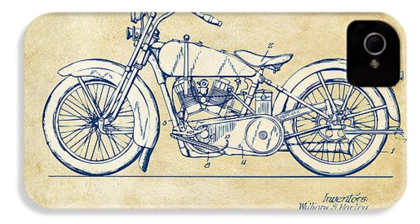 Vintage Harley-davidson Motorcycle 1928 Patent Artwork IPhone 4 Case