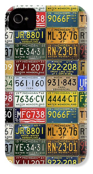 Vintage License Plates From Michigan's Rich Automotive Past IPhone 4 Case by Design Turnpike