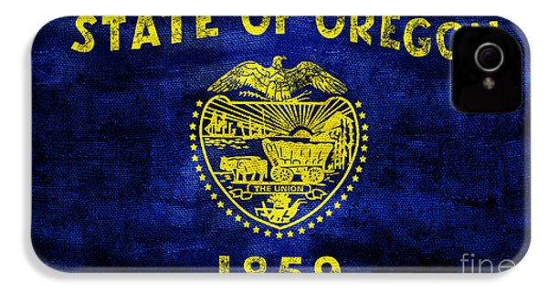 Vintage Oregon Flag IPhone 4 / 4s Case by Jon Neidert