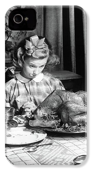 Vintage Photo Depicting Thanksgiving Dinner IPhone 4 Case by American School