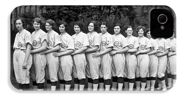 Vintage Photo Of Women's Baseball Team IPhone 4 Case by American School