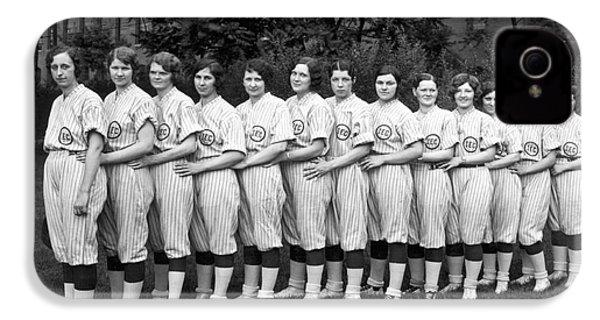 Vintage Photo Of Women's Baseball Team IPhone 4 Case by American School
