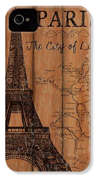 Vintage Travel Paris IPhone 4 Case by Debbie DeWitt