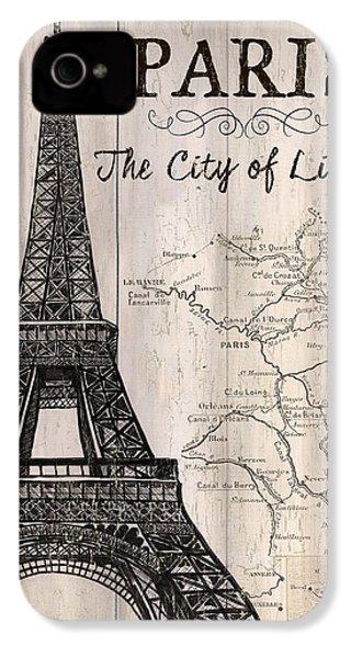 Vintage Travel Poster Paris IPhone 4 Case by Debbie DeWitt