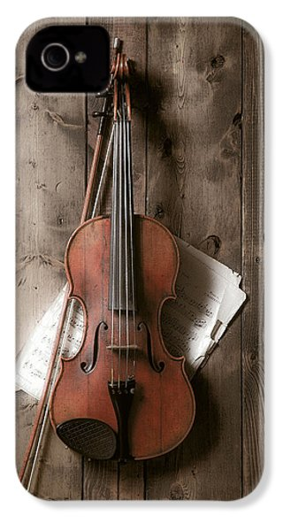 Violin IPhone 4 Case by Garry Gay
