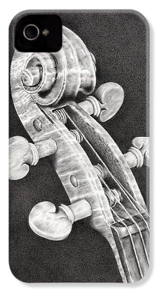 Violin Scroll IPhone 4 Case by Remrov
