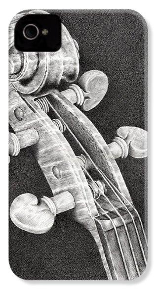 Violin Scroll IPhone 4 Case by Remrov