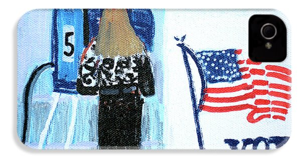 Voting Booth 2008 IPhone 4 Case by Candace Lovely