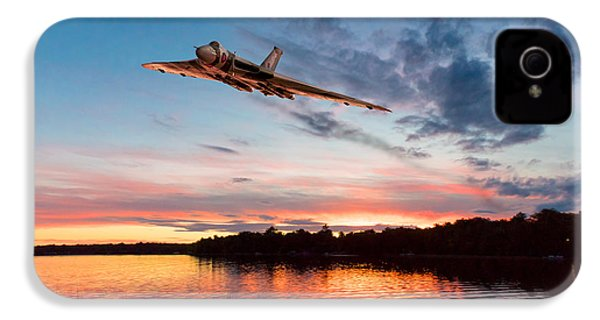 IPhone 4 Case featuring the digital art Vulcan Low Over A Sunset Lake by Gary Eason