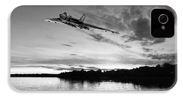 IPhone 4 Case featuring the digital art Vulcan Low Over A Sunset Lake Sunset Lake Bw by Gary Eason