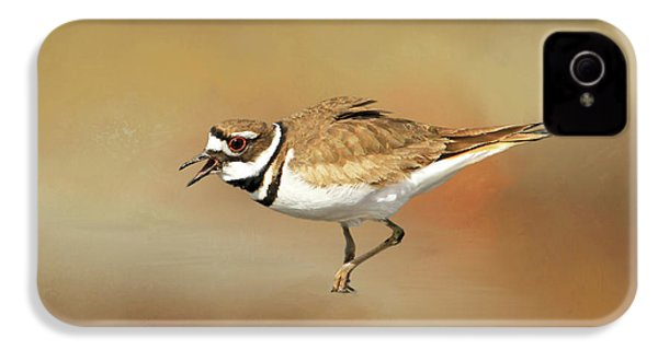 Wading Killdeer IPhone 4 Case by Donna Kennedy