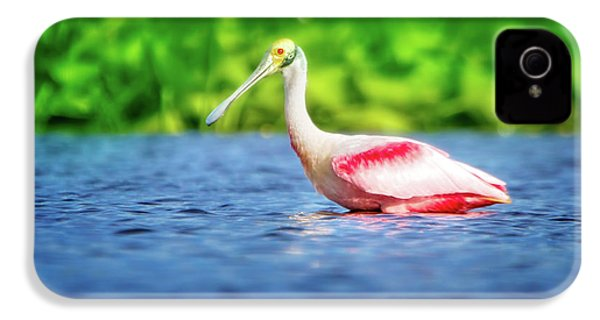 Wading Spoonbill IPhone 4 Case by Mark Andrew Thomas