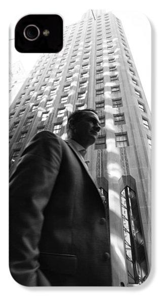Wall Street Man II IPhone 4 Case by Dave Beckerman