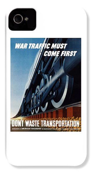War Traffic Must Come First IPhone 4 Case by War Is Hell Store
