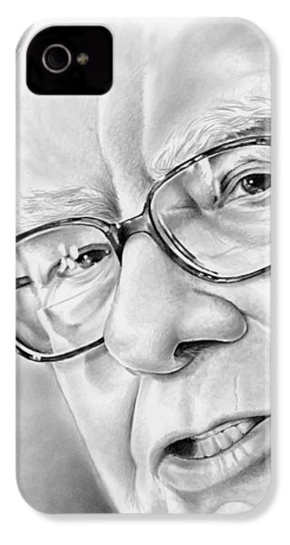Warren Buffett IPhone 4 Case by Greg Joens