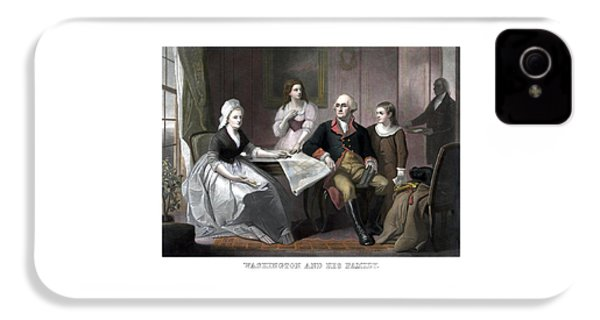 Washington And His Family IPhone 4 Case by War Is Hell Store