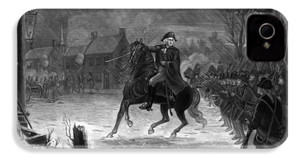 Washington At The Battle Of Trenton IPhone 4 Case by War Is Hell Store