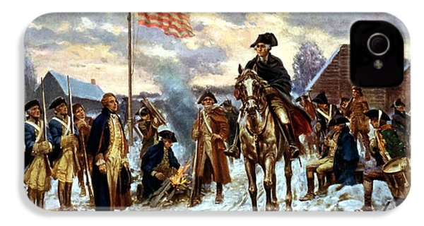 Washington At Valley Forge IPhone 4 Case by War Is Hell Store