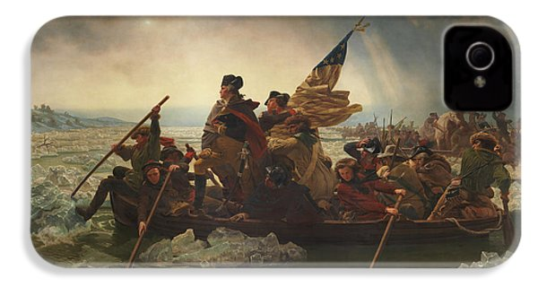 Washington Crossing The Delaware IPhone 4 Case by War Is Hell Store