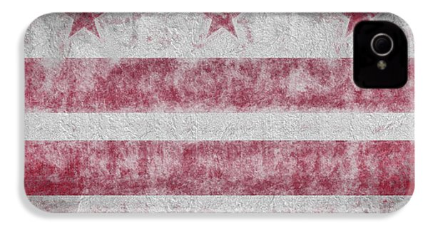 IPhone 4 Case featuring the digital art Washington Dc City Flag by JC Findley