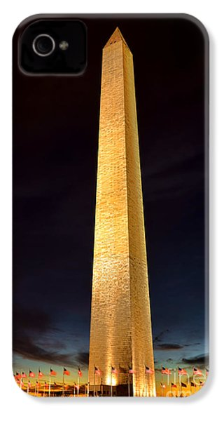 Washington Monument At Night  IPhone 4 Case by Olivier Le Queinec