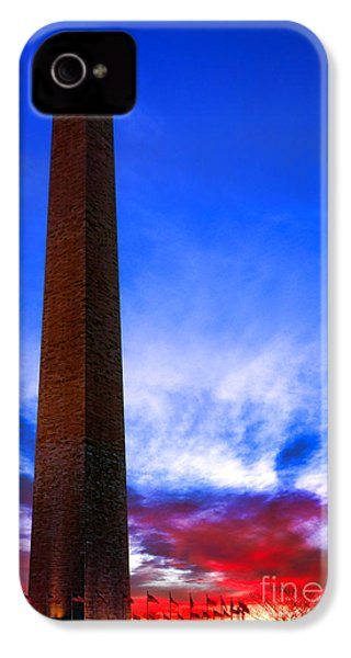 Washington Monument Glory IPhone 4 Case by Olivier Le Queinec
