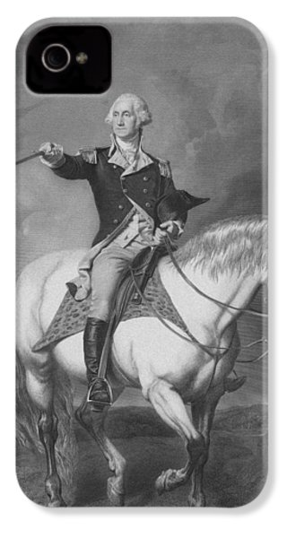 Washington Receiving A Salute At Trenton IPhone 4 Case by War Is Hell Store