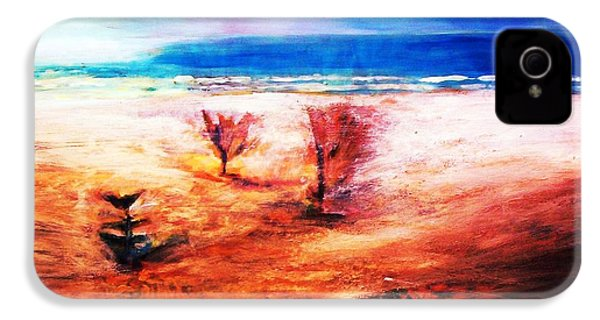 IPhone 4 Case featuring the painting Water And Earth by Winsome Gunning