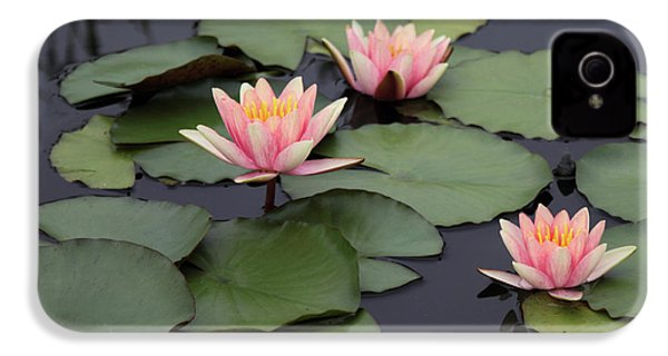 IPhone 4 Case featuring the photograph Water Lilies by Jessica Jenney
