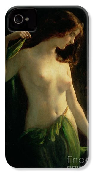 Water Nymph IPhone 4 Case by Otto Theodor Gustav Lingner