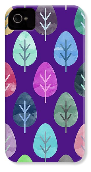 Watercolor Forest Pattern II IPhone 4 Case by Amir Faysal
