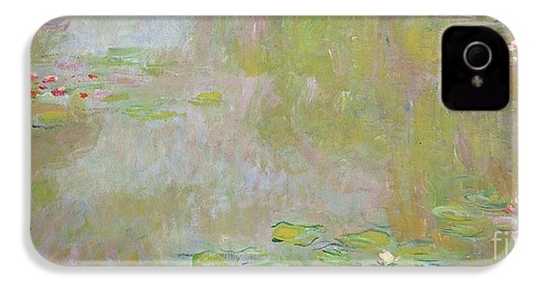 Waterlilies At Giverny IPhone 4 Case by Claude Monet