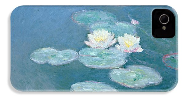 Waterlilies Evening IPhone 4 / 4s Case by Claude Monet