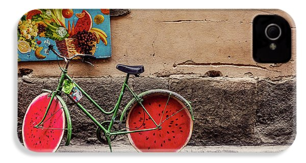 Watermelon Wheels IPhone 4 Case by Happy Home Artistry