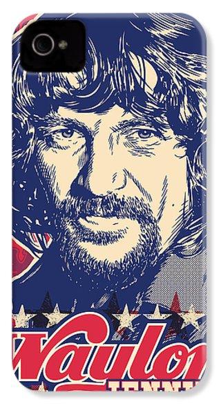 Waylon Jennings Pop Art IPhone 4 Case by Jim Zahniser