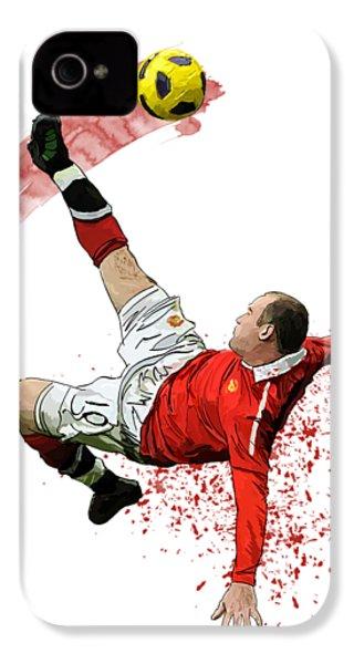 Wayne Rooney IPhone 4 Case by Armaan Sandhu