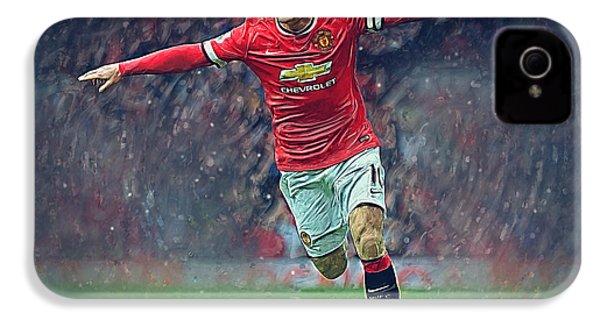 Wayne Rooney IPhone 4 Case by Semih Yurdabak