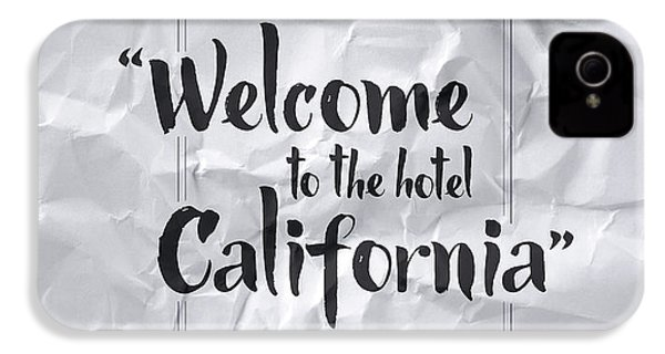 Welcome To The Hotel California IPhone 4 / 4s Case by Samuel Whitton