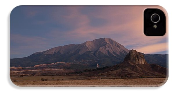 IPhone 4 Case featuring the photograph West Spanish Peak Sunset by Aaron Spong
