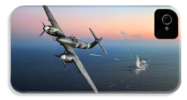IPhone 4 Case featuring the photograph Westland Whirlwind Attacking E-boats by Gary Eason
