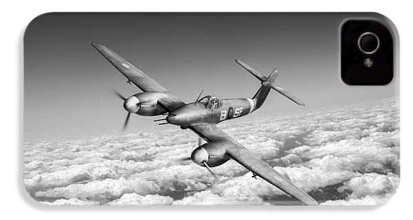 IPhone 4 Case featuring the photograph Westland Whirlwind Portrait Black And White Version by Gary Eason