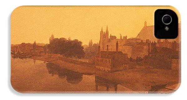 Westminster Abbey  IPhone 4 Case by Peter de Wint
