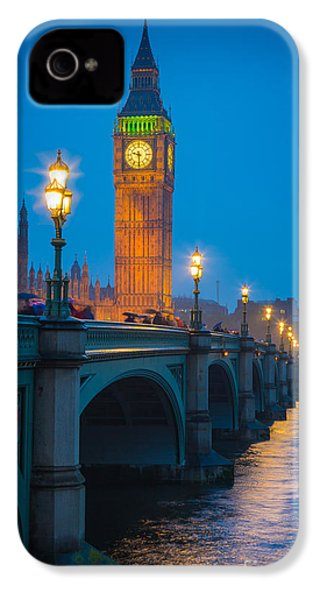 Westminster Bridge At Night IPhone 4 Case by Inge Johnsson