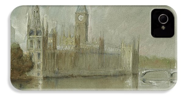Westminster Palace And Big Ben London IPhone 4 Case by Juan Bosco