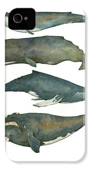 Whales Poster IPhone 4 Case