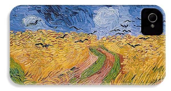 Wheatfield With Crows IPhone 4 Case by Vincent van Gogh
