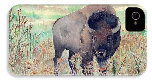 Where The Buffalo Roams IPhone 4 Case by Arline Wagner